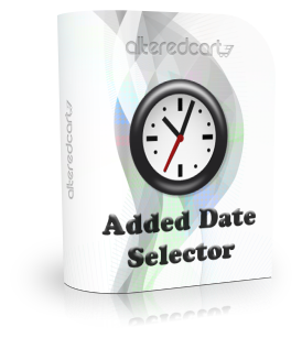 Product Added Date Selector
